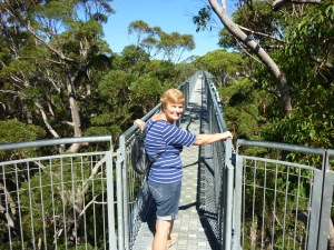 "Denni on the ""Treetop Skywalk"", Walpole"