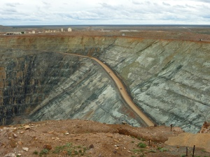 Typical of the endless number of open cut gold mines