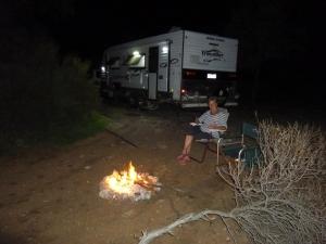 Fireside at Pildappa Rock, SA