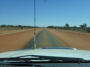 "Single lane highway - ""outback style"". Road trains get right of way tou know!!!!"