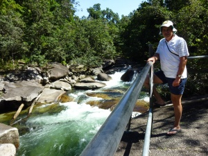 """One small section of the """"Boulders"""" just out of Babinda - very peaceful today, but raging torrents in the wet season."""