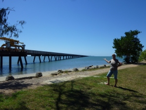 Lucinda Jetty to load raw sugar - 5.72km long, built to follow earths circumference!