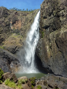 Wallaman Falls, 46km from Ingham - 293m. In the wet season they pour over the whole cliff face