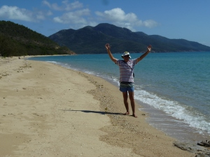 Beach at Hydeaway Bay, Whitsunday region.