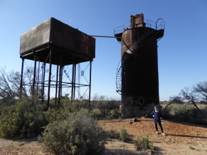 Water tower and purifier at Beresford Siding on Old Ghan Line