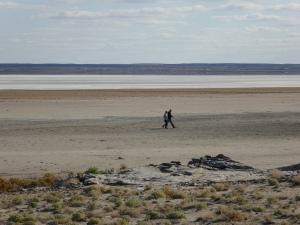 View of Lake Eyre North at Halligan Bay
