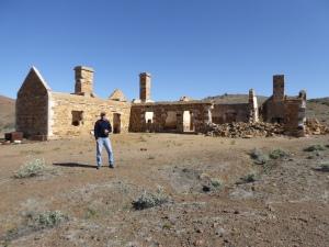 Main Homestead ruins at Peake