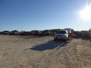 Camp line-up at Dalhousie Springs