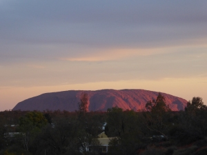 Uluru at sunset.....finally some colour!