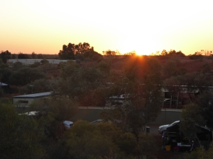 Yulara CP from the lookout at sunrise