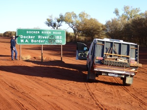 The start of the 1100km section of the Great Central from Yulara to Laverton