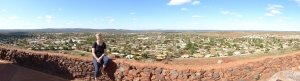 View over Newman from one of the lookouts