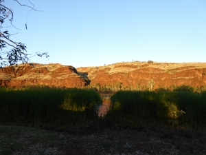 Part of the gorge at sunrise