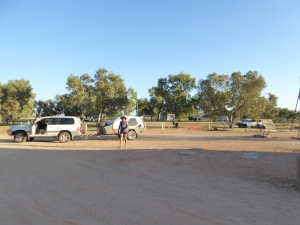 Tobermorey Cattle Station campground.......with beautiful gr....a...s...s
