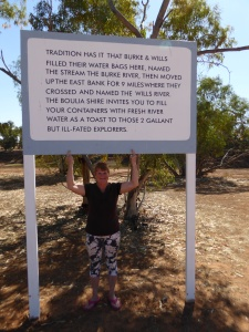 Boulia at last, with a poignant reminder