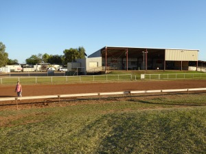 Boulia Race Track with the main grandstand featured.