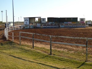 Rodeo yard at Boulia Racecourse