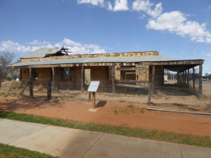 What's left of the old Birdsville Pub