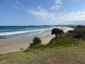 Corindi Beach from near our van.