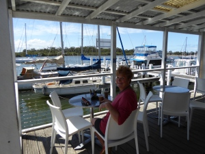 Coffee at the boatshed at Dunbogan, near Leinster