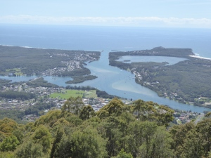 From North Brother Lookout.....Leinster in the foreground, North Haven above...Dunbogan right. Not bad.