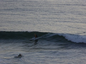 Surfing Rainbow Beach early morning