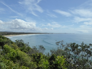 Rainbow Beach from our van at Bonny Hills