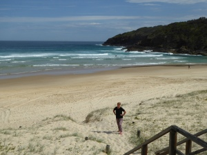 One of the beaches at Seal Rocks, on the sheltered side.