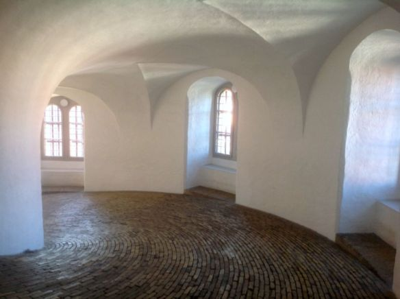 The ramps up the inside of the Round Tower - 7 1/2 twists then 20 stairs to the viewing platform.