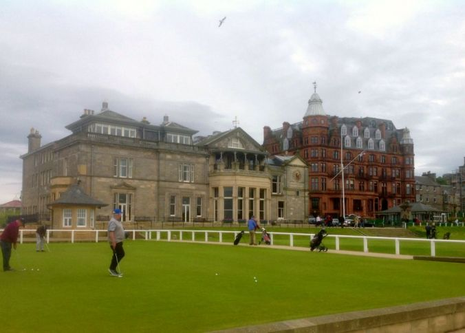 The Royal & Ancient St. Andrews golf course.