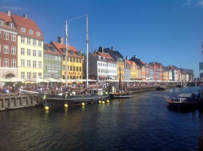 View along the canal in the 'Old Town' of Copenhagen.