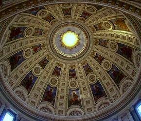 The dome inside the Marble Church.