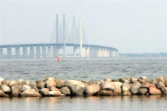 The Bridge - Copenhagen to Malamo in Sweden.