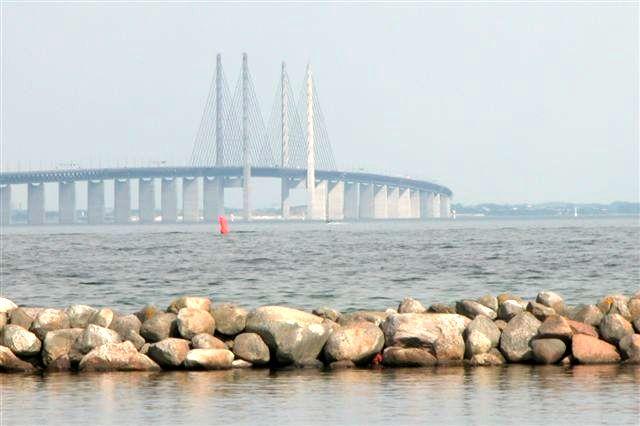 The Bridge - Copenhagen to Malamo in Sweden.