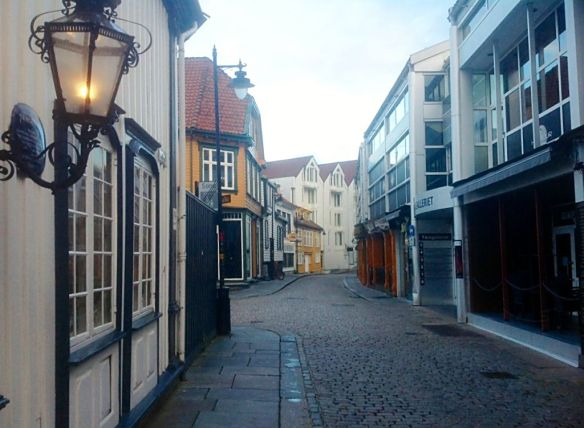 Cobbled laneway in Stavanger