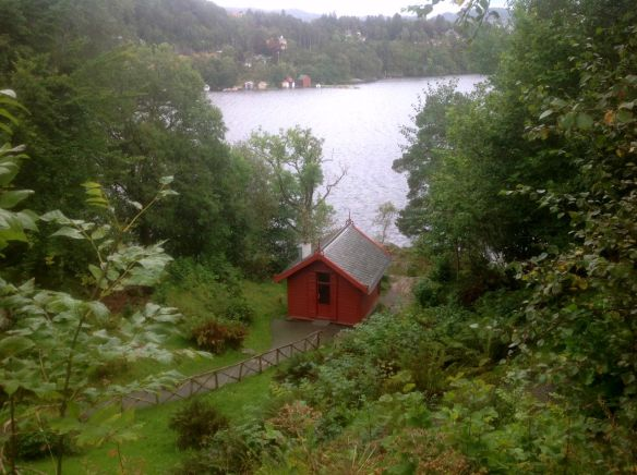 Edvard Grieg's composer hut on the edge of the fjord near Bergen.