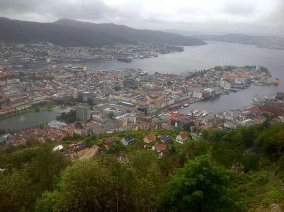 Views of Bergen from top of Mount Floyen.