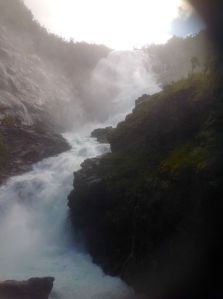 One of the many hundreds of water falls we have seen in Norway