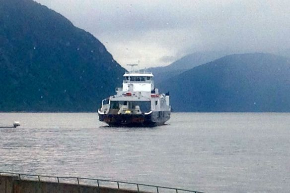 One of many ferry crossings on the fjords