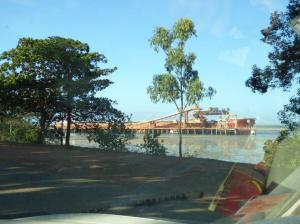 Loading bauxite bound for Gladstone.