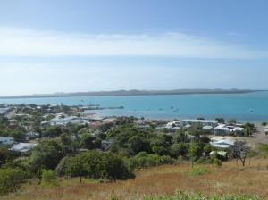 View from the Fort high on Thursday Island......Horn Island in the distance
