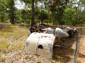 WW2 plane wreckage