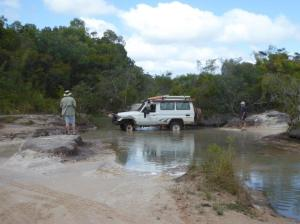 Slow and careful crossing of all creek beds with rocks, holes and ruts the major issues
