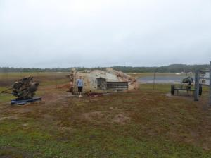 Runway and aircraft remnants at Gordon Base at Lockhart River
