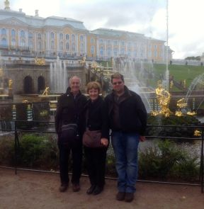 Tom, Heather & Simon at Peterhof