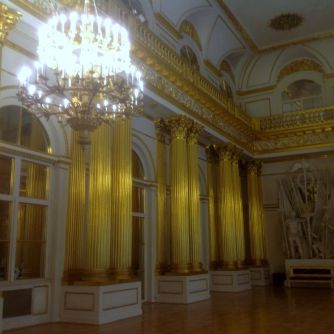 One of many ornate rooms at Peterhof