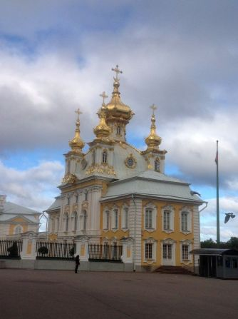 The church at Peterhof