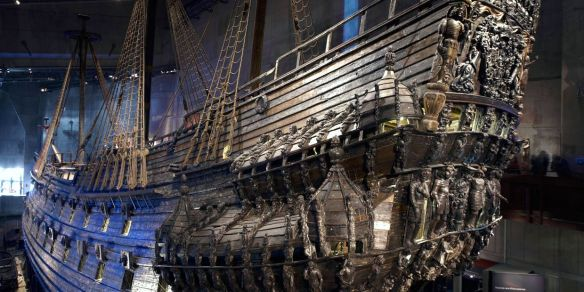 Vasa, the 17th century galleon which sank just minutes after sailing on its maiden voyage. After 333 years it was salvaged from the ocean. A truly amazing sight to see, it stands 4 storeys high. It sank because it was top heavy.