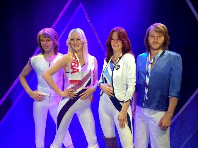 Silicon models of the famous group at the ABBA Museum.