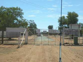 Crossing the dog fence into Queensland.
